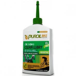 3 em 1 Puroil Clean Lubry 100ml - Limpador/Desaguante/Lubrificante