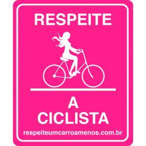 Adesivo Respeito A Ciclista