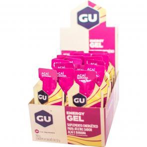 Gel de Carboidrato Gu Energy Açaí com Banana - Caixa 24 Unidades