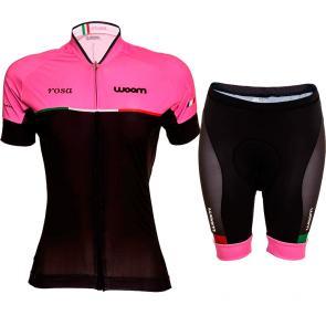 Kit Bermuda + Camisa Feminina Woom Supreme Rosa