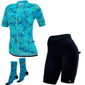 Kit Bermuda + Camisa + Meia Feminina Marcio May Funny Light