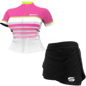 Kit Short Saia + Camisa Feminina Skin Sport Vênus Star