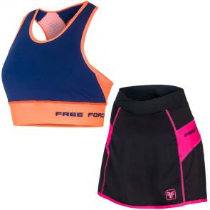 Kit Short Saia + Top Feminino Free Force Stage