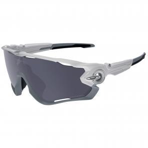 Óculos Ciclismo Oakley Jawbreaker Branco Polido Polarizado