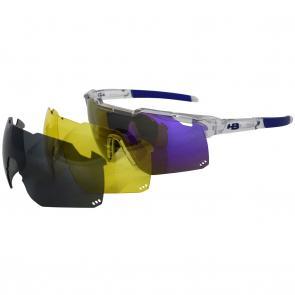 2eaad75cd Óculos HB Shield Road Multi Purple + Lentes Extras - MX Bikes