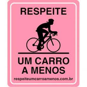 Placa um carro a menos - Ciclista Profissional - Roxa