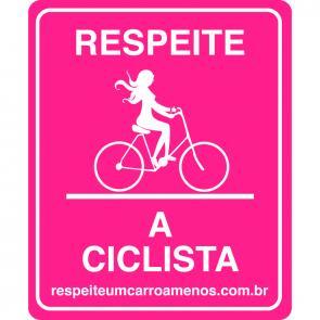 Placa um carro a menos - Ciclista - Rosa