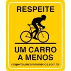 Placa um carro a menos - Ciclista Profissional - Amarela