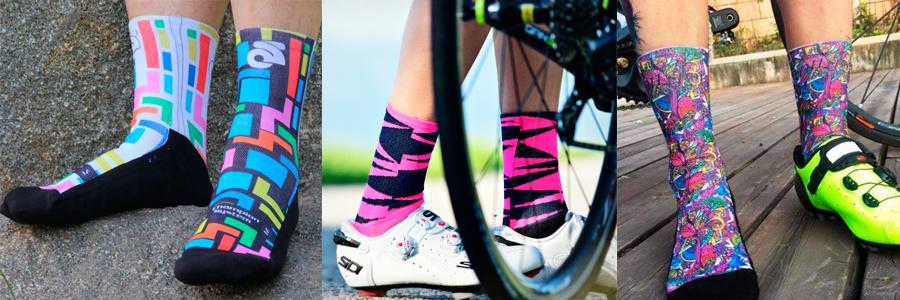 meias femininas de ciclismo