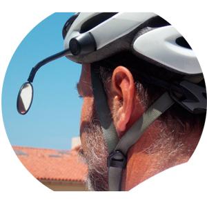 espelho retrovisor de bike