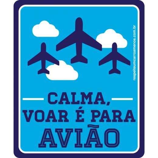 Adesivo Calma Voar � Para Avi�o