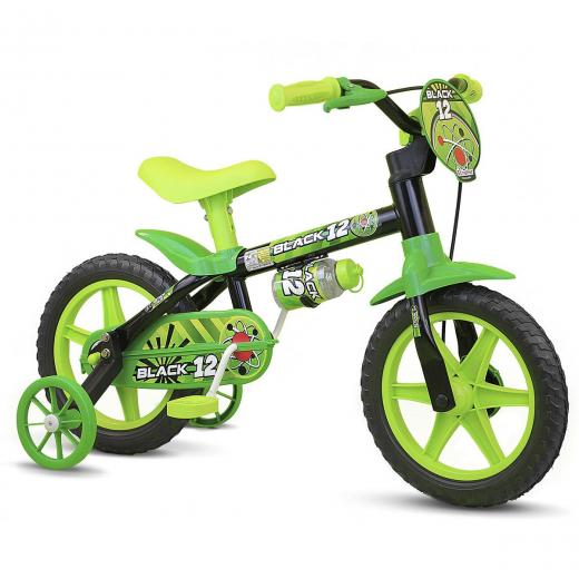 Bicicleta Aro 12 Infantil Nathor Black
