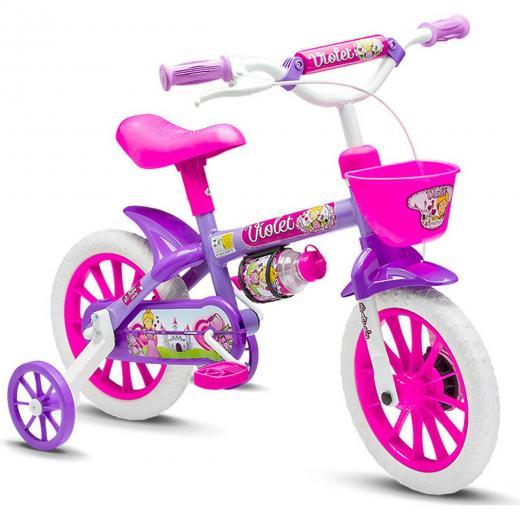 Bicicleta Aro 12 Infantil Nathor Violeta