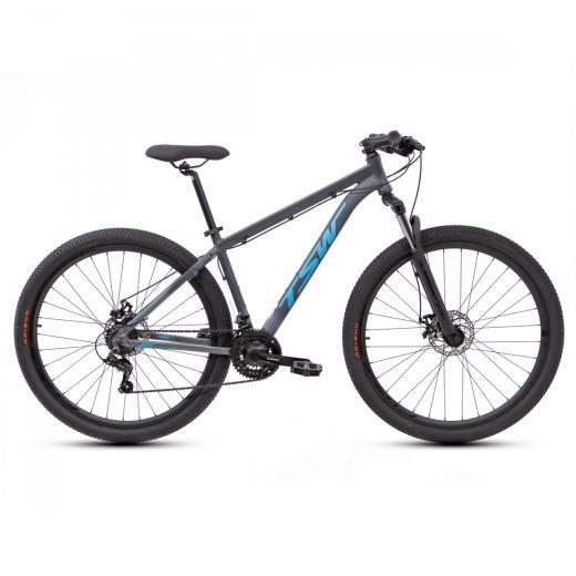 Bicicleta Aro 29 TSW Ride 21V Cinza/Azul