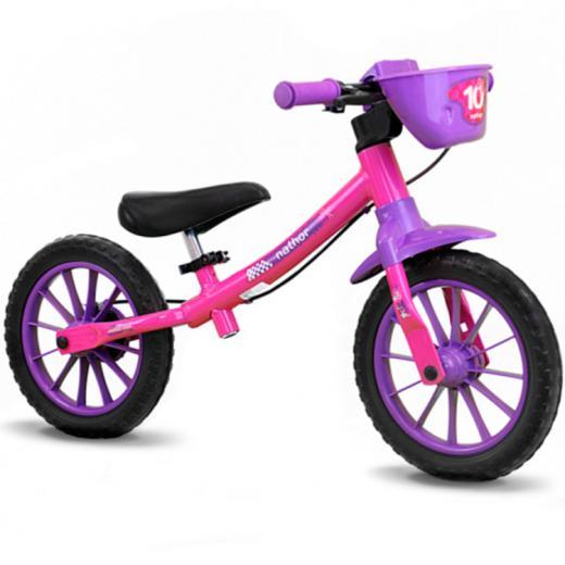 Bicicleta Balance Bike Infantil Nathor Feminina