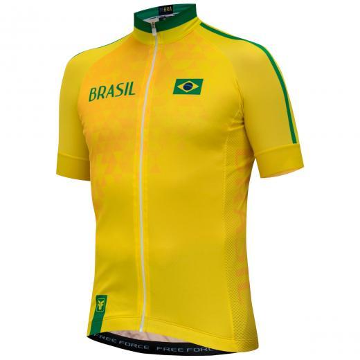 Camisa Free Force Brasil - Amarela