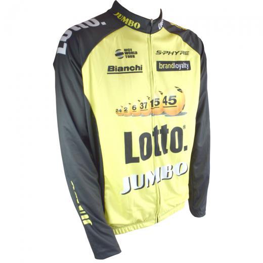 Camisa Refactor World Tour Lotto� Jumbo Manga Longa - Somente P
