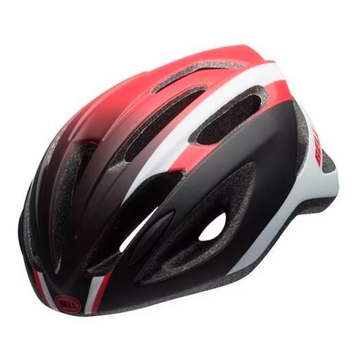 Capacete Bell Crest-R Preto/Branco/Vermelho Fosco