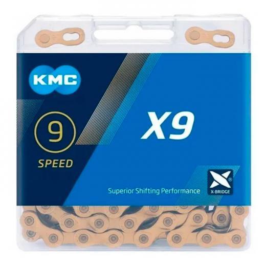 Corrente KMC X9 Ti 9V Dourada