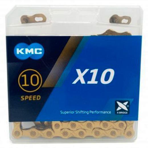 Corrente KMC X10 10V 116L Dourada