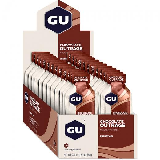 Gel de Carboidrato Gu Energy Chocolate Belga - Caixa 24 Unidades