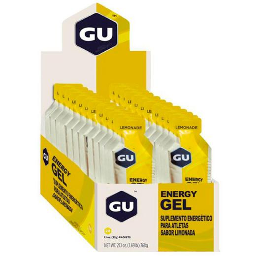 Gel Carboidrato Gu Energy Lim�o - Caixa 24 Unidades