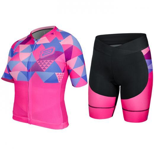 Kit Bermuda + Camisa Feminina ASW Active Caleido