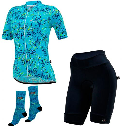 Kit Bermuda + Camisa + Meia Feminina Marcio May Funny Light