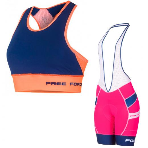 Kit Bretelle + Top Feminino Free Force Stage