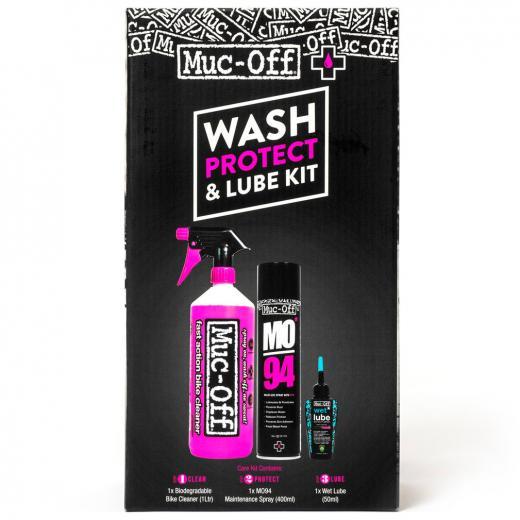 Kit Limpeza e Lubrifica��o Muc-Off Wash Protect e Lube