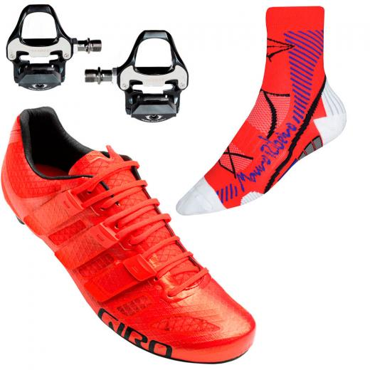 Kit Sapatilha Giro + Meia Mauro Ribeiro + Pedal Promend