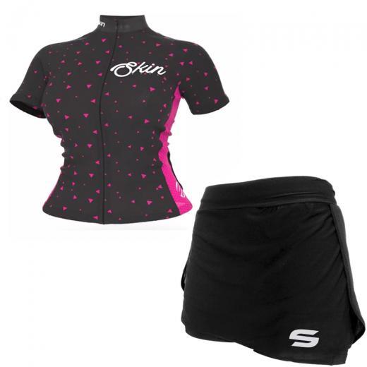 Kit Short Saia + Camisa Feminina Skin Sport V�nus