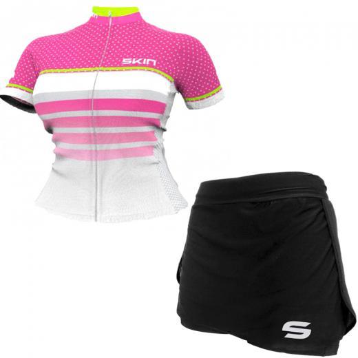 Kit Short Saia + Camisa Feminina Skin Sport V�nus Star