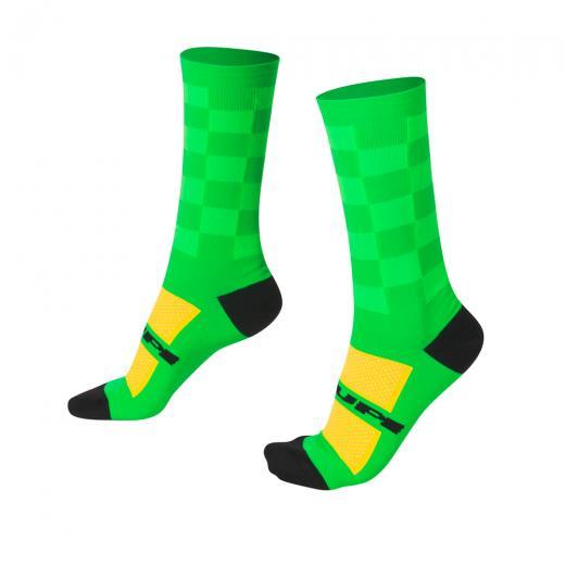 Meia Hupi Verde Quadriculado