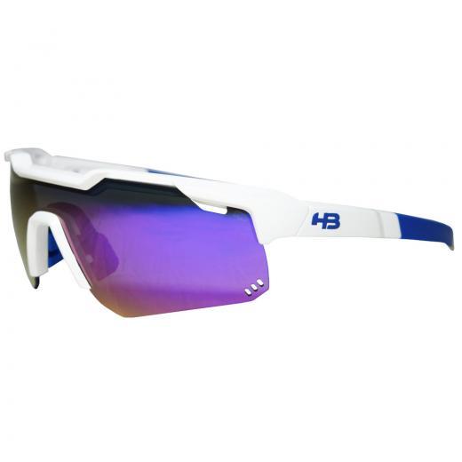 Óculos HB Shield Evo M Pearled White/Multi Purple - MX Bikes