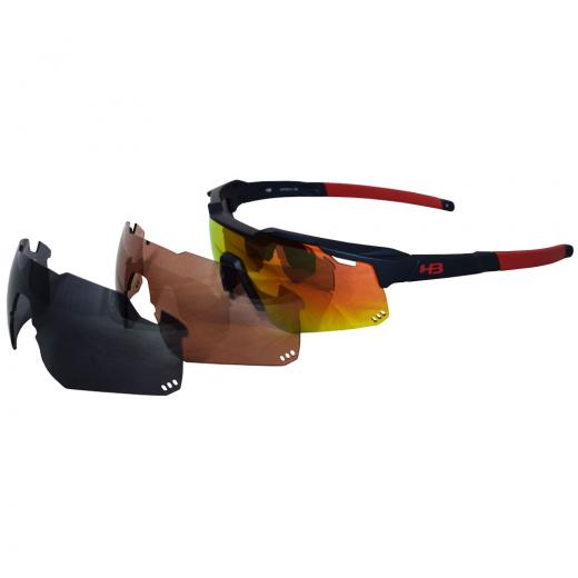 �culos HB Shield Mountain Multi Red + Lentes Extras