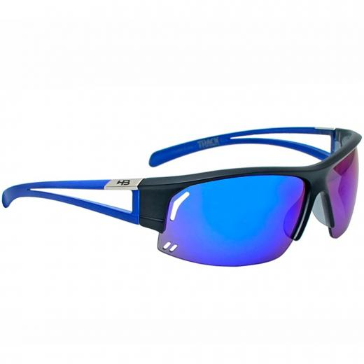 Óculos HB Track Black/Blue Chrome - MX Bikes