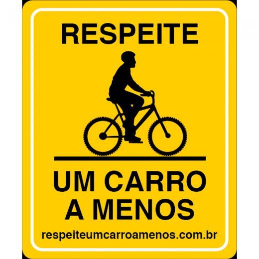 Placa Um Carro A Menos - Mountain Bike